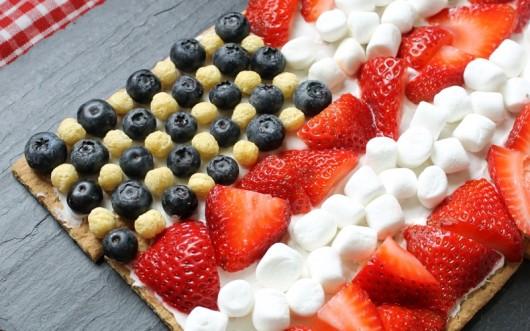 Memorial Day flag dessert