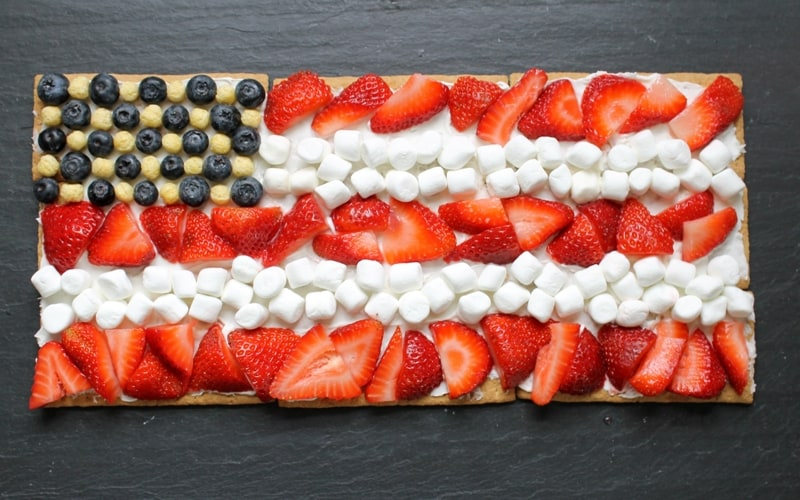 American flag dessert