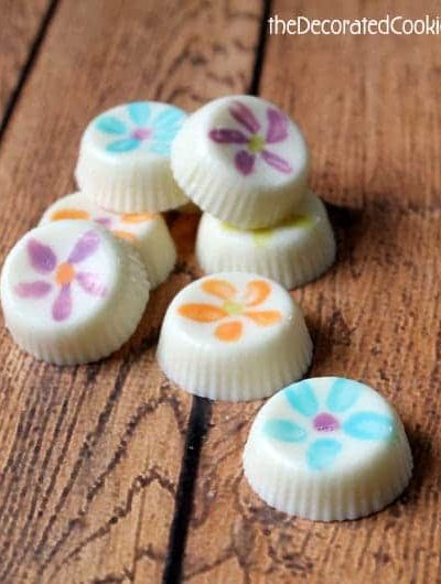 how to make painted chocolates