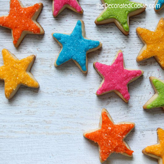 how to make superstar cookies for the teacher - star cookies