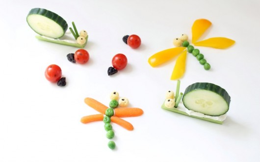 How to Make Simple Veggie Bugs -- vegetable bugs snack for kids