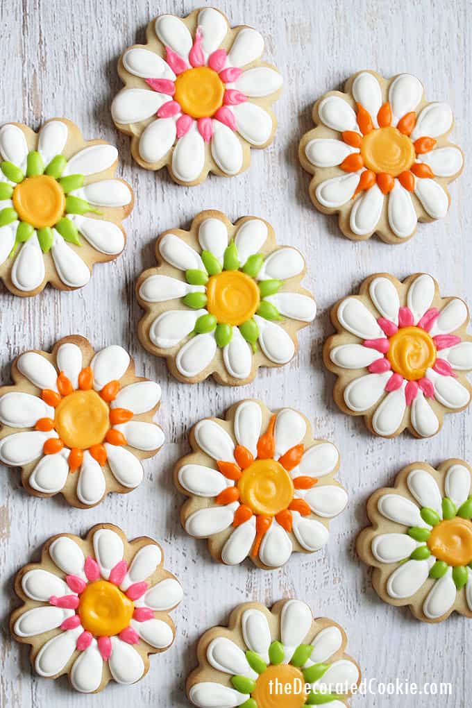 How to decorate daisy cookies for Spring.