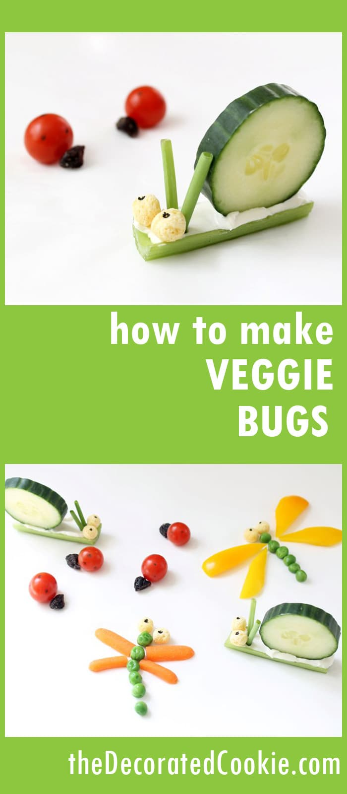 How to Make Simple Veggie Bugs