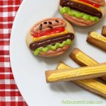 mini burger and fries cookies