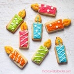 candle birthday cookies