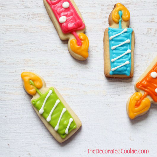 how to make birthday candle cookies