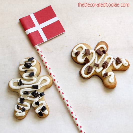 """En Kagemand"" Danish birthday cookies"