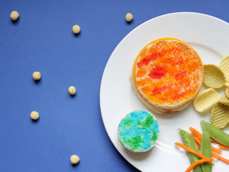 Painted planet sandwiches for Kix - fun lunch for kids