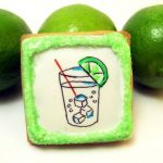 gin and tonic cookie - the decorated cookie