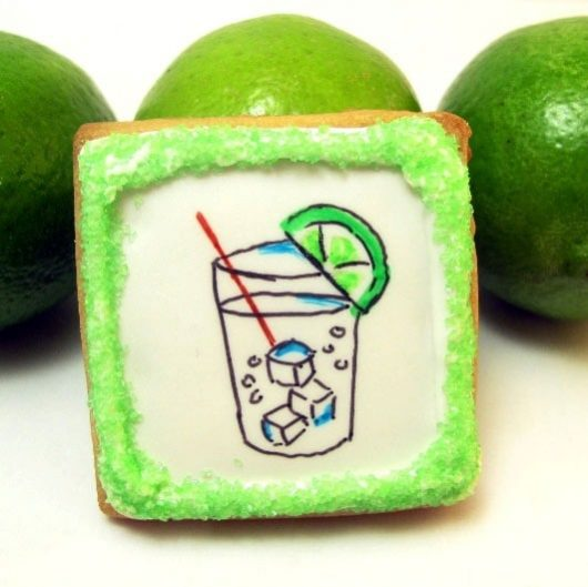 gin and tonic cookie