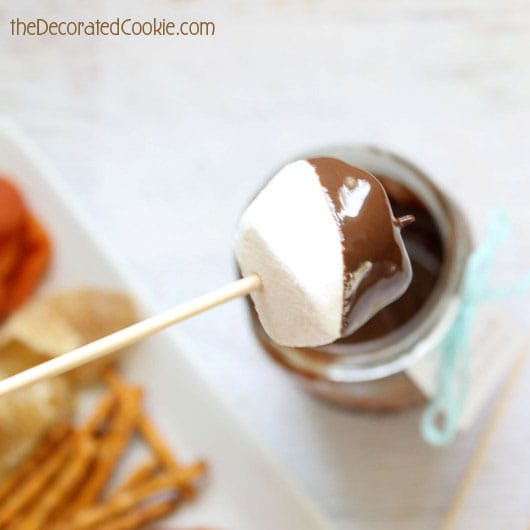 easy chocolate fondue - how to make chocolate coconut fondue to go (in minutes!)