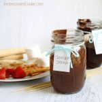 easy chocolate coconut fondue