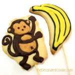 banana and monkey cookies