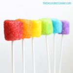 drunken rainbow marshmallow pops