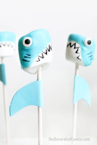 shark marshmallows summer treat idea
