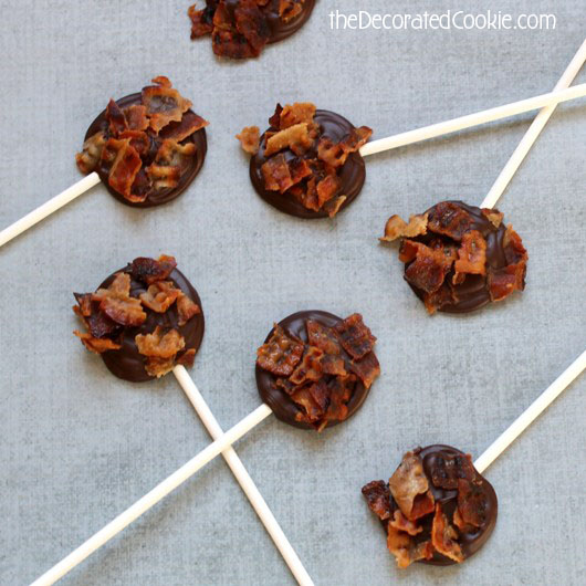 how to make bacon chocolate pops
