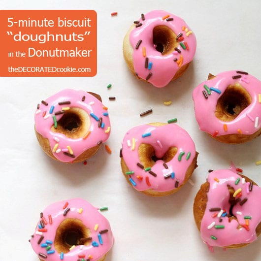"how to make biscuit ""doughnuts"" in the Babycakes Donut Maker"