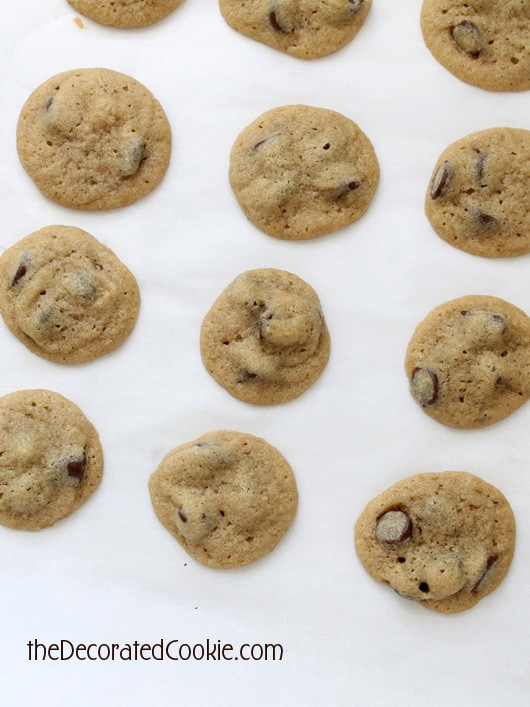 easy-to-make MINI chocolate chip cookies