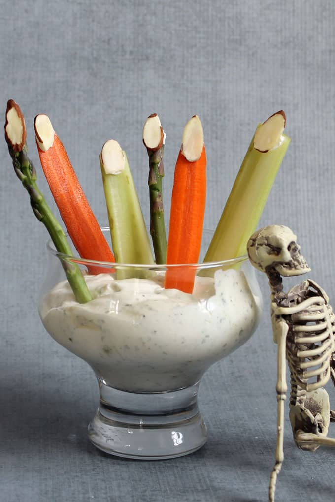 Healthy Halloween treats and snacks: Vegetable fingers