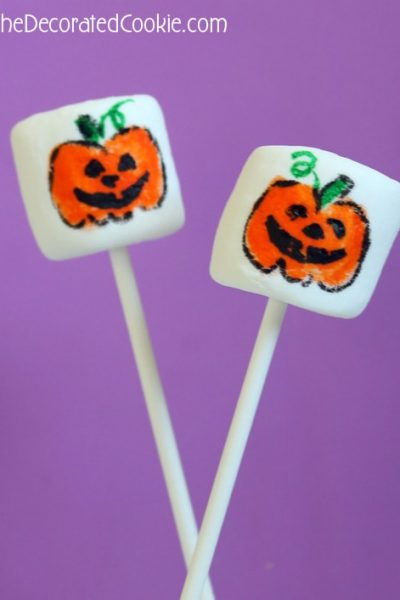 Jack O' Lantern Halloween marshmallows
