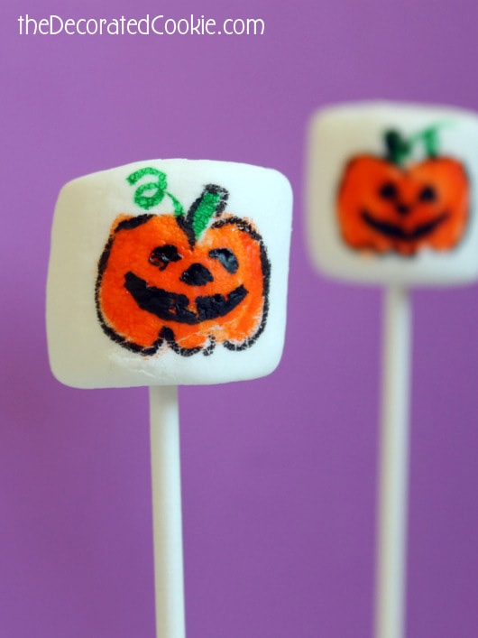 pumpkin Halloween marshmallows