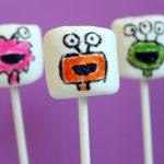 monster marshmallow pops