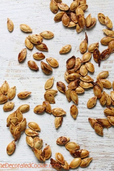 cinnamon maple pumpkin seeds with crunch