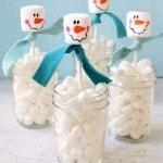 marshmallow snowman jar
