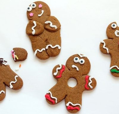 silly gingerbread men cookies