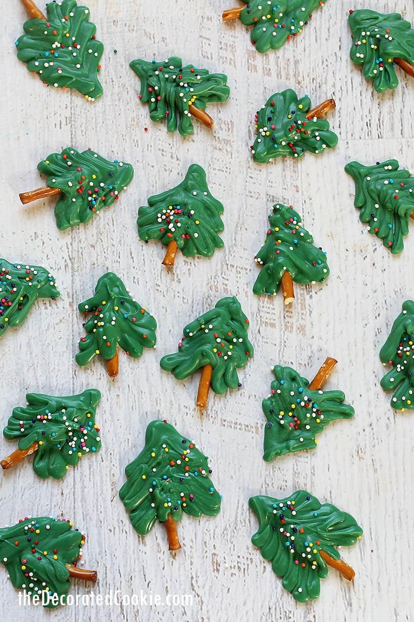 mini chocolate Christmas trees