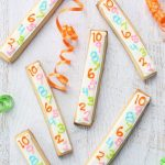 countdown cookie sticks for New Year's