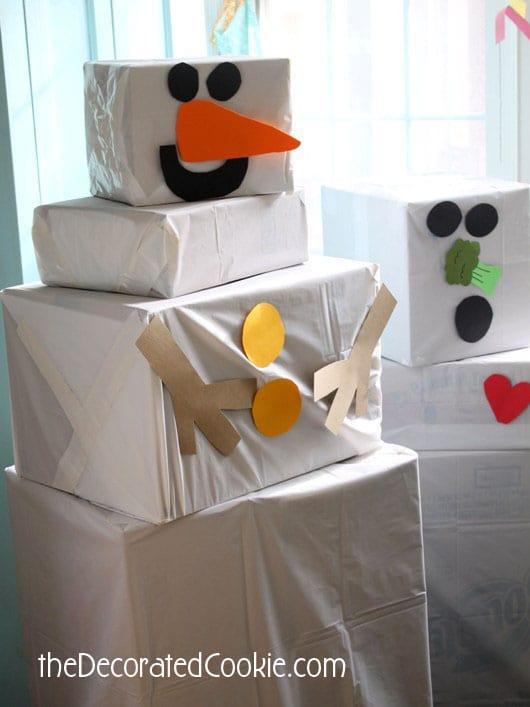snowman box game