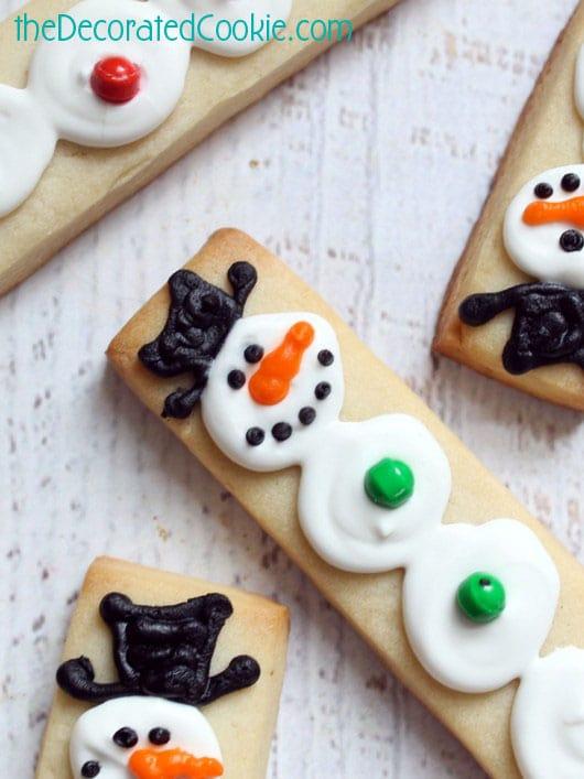 snowman cookie sticks