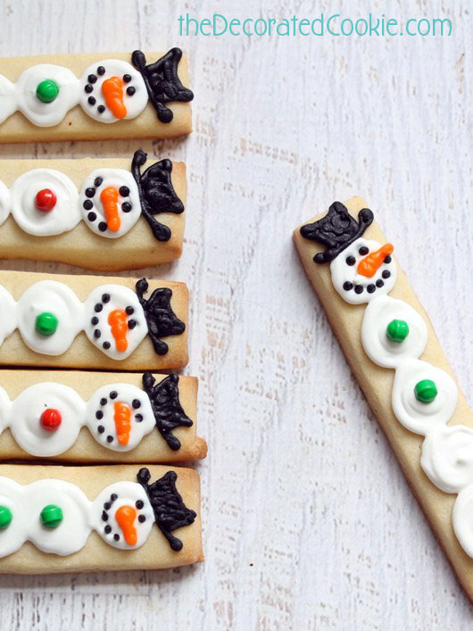 snowman cookie sticks