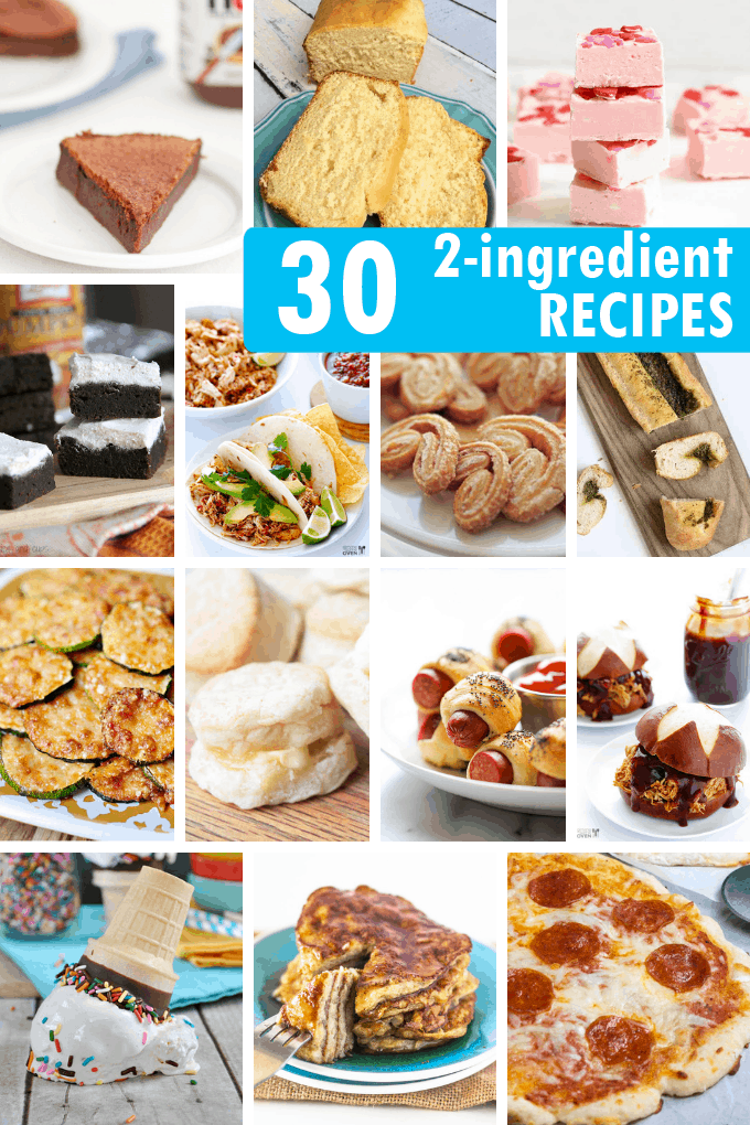 2-INGREDIENT RECIPES -- A roundup of easy two-ingredient recipes for appetizers, snacks, breakfast, breads, sides, and dinner.