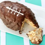 Butterscotch and Marshmallow Popcorn football Cake