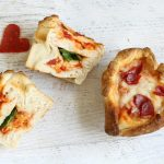 heart-shaped pizza cupcakes