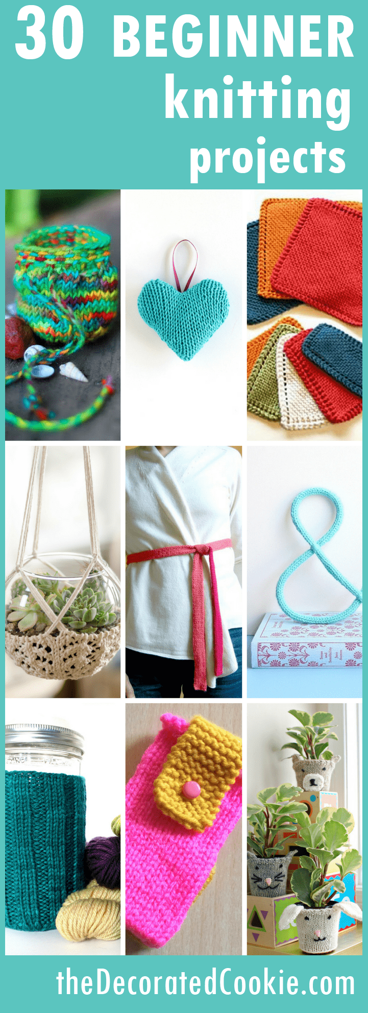 20 easy knitting projects beyond blankets and scarves -- easy knitting for beginners