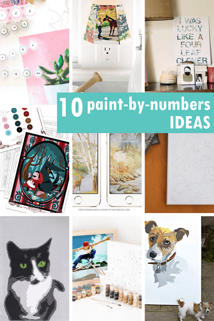 PAINT-BY-NUMBER IDEAS and projects, a fun, artistic hobby. Make your own paint-by-number, great craft kids, decor ideas and more.