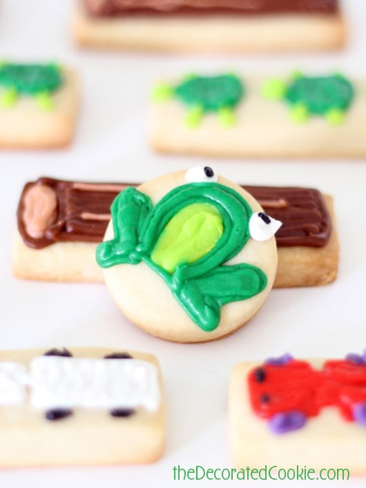 Frogger cookies