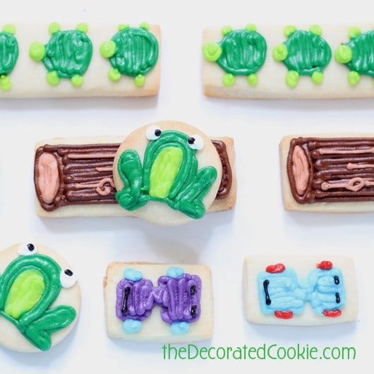 Frogger cookies by the decorated cookie