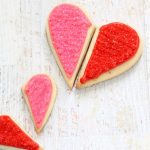"""you complete me"" heart cookies"