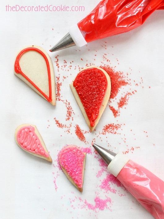 heart half cookies