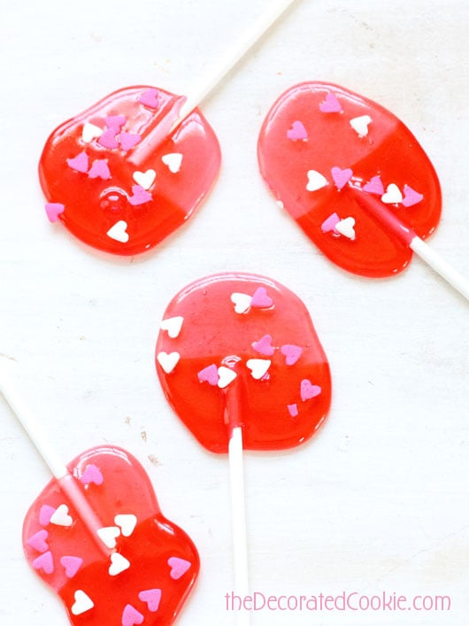 EASY Jolly Rancher Valentine's Day lollipops