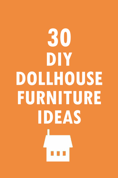 roundup of 30 DIY dollhouse furniture crafts AND how to make a pom pom chair
