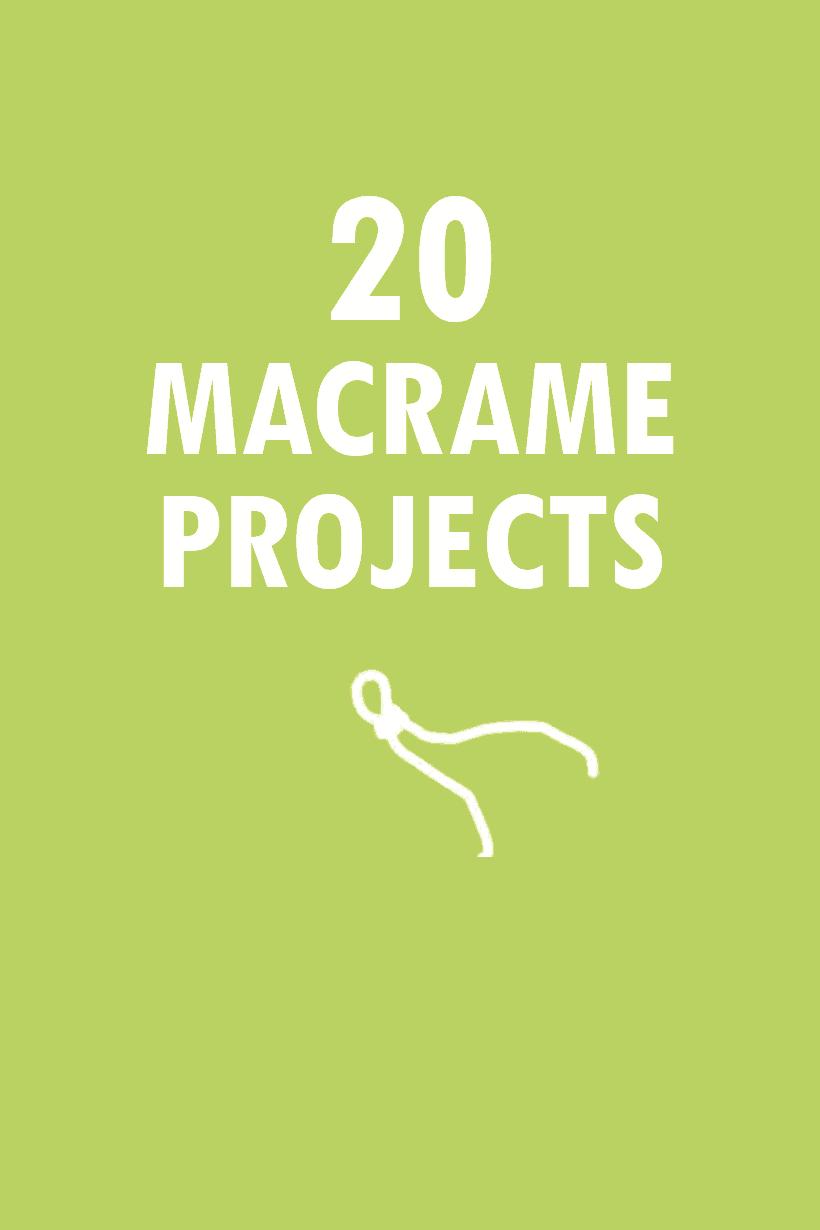 oundup of 20 modern macrame crafts