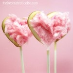 cotton candy cookie pops for Valentine's Day
