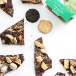 This Girl Scout cookies chocolate bark is a fun and easy way to use all your delicious Girl Scout cookies in one dessert. Great for parties.