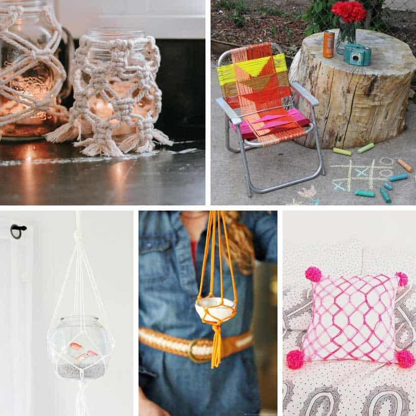 macrame ideas collage