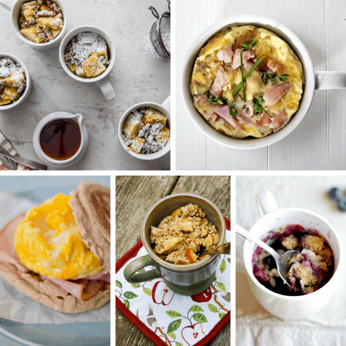 18 EASY MICROWAVE MUG RECIPES -- for breakfast, lunch, dinner, and dessert.